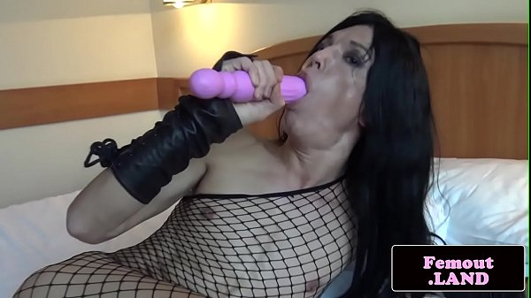 Fishnet, Shemale toys, Shemale ass