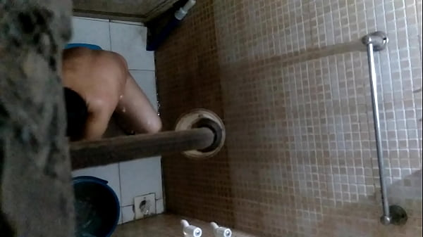 Indian, Indian bath, Watching, Indian mom son