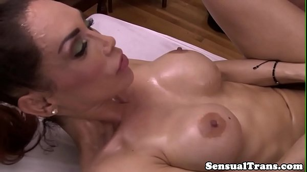 Massage, Busty babe massage