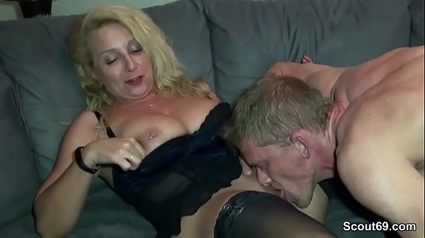 German, German milf, Cum on tits