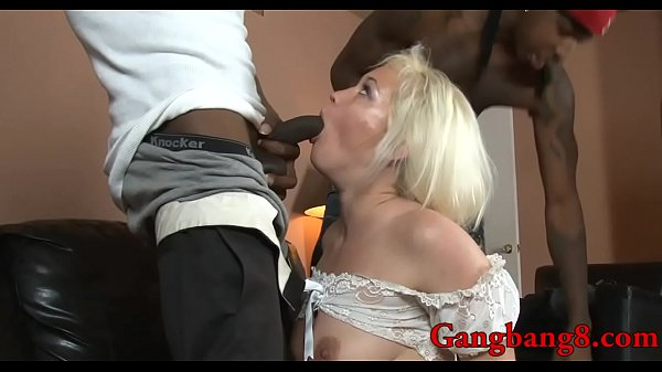 Interracial anal, Blonde anal